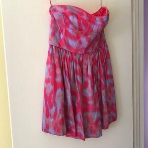 Rebecca Taylor short strapless dress pink